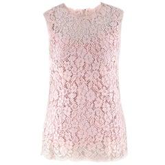 Dolce & Gabbana Blush Pink Lace Top US 4