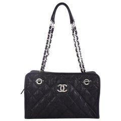 Chanel French Riviera Tote Quilted Caviar Small