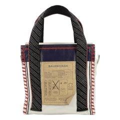 Balenciaga Scaffold Shopper Tote Whipstitch Leather Small