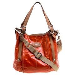 Tod's Orange Coated Fabric Gummy Bag
