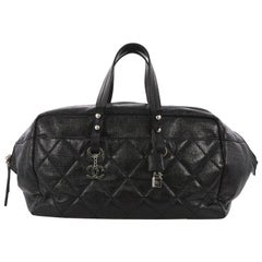 Chanel Biarritz Satchel Quilted Coated Canvas XL