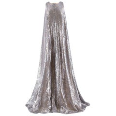 Emilia Wickstead sleeveless silver lace gown US 10