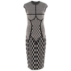 Alexander McQueen ornate-jacquard knit dress US 8