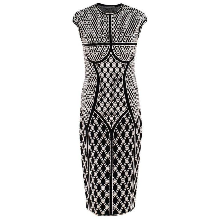 Alexander McQueen ornate-jacquard knit dress US 8 For Sale
