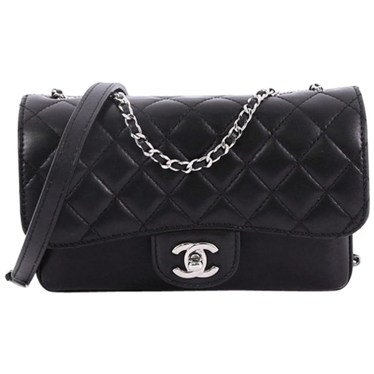 6060a561bda93a Chanel Clams Pocket Flap Bag Quilted Lambskin Small at 1stdibs