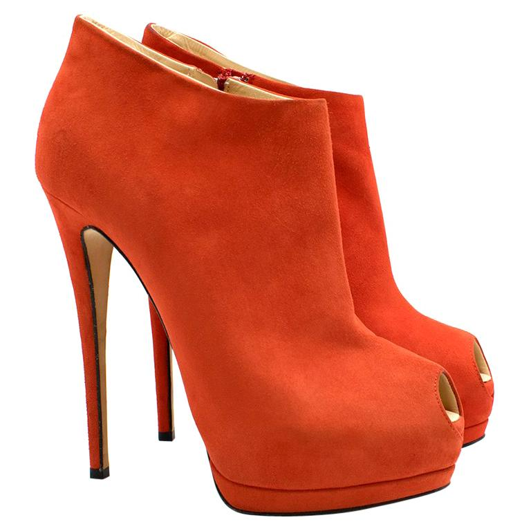 585c7d6ff2f Giuseppe Zanotti Suede Stiletto Booties US 9.5 For Sale at 1stdibs