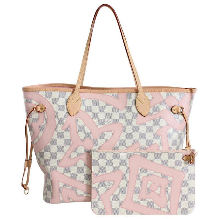 eccec124ee7a Louis Vuitton Damier Azur Tahitienne Neverfull Bag Tote MM LE For Sale at  1stdibs