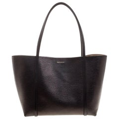 Dolce and Gabbana Black Leather Tote