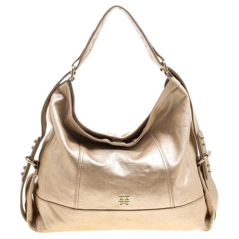 Givenchy Metallic Gold Leather Hobo For Sale