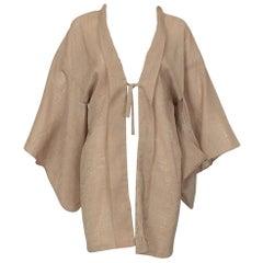 Textured Jacquard Half Kimono Haori Jacket, 1960s