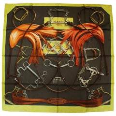 Hermes Project Carres Silk Scarf by Henri d'Origny, Issued 2007