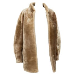 Yves Saint Laurent Gold Tone Shearling Coat