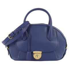 Salvatore Ferragamo Fiamma Satchel Leather Medium