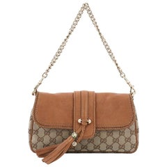 Gucci Marrakech Convertible Evening Bag Leather and GG Canvas