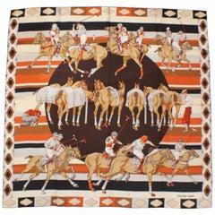 Hermes Les Poneys de Polo Silk Carre  by Hubert de Watrigant - New In Box