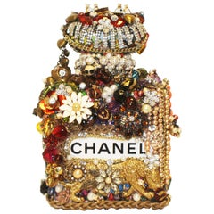 One of a Kind Eclectic Embellished Chanel Perfume Bottle