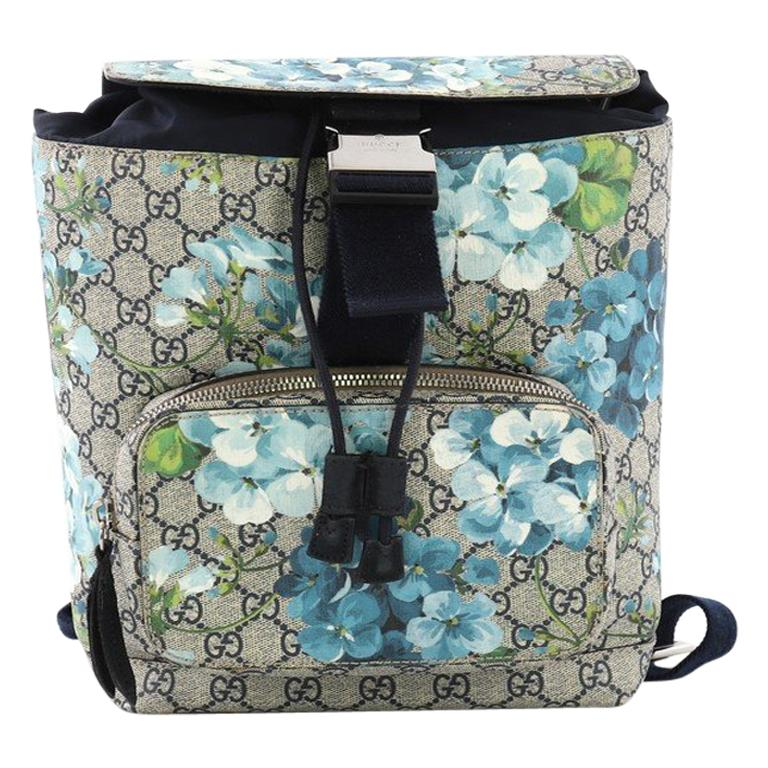 2f55f5c59db Gucci Buckle Backpack Blooms Print GG Coated Canvas Small For Sale ...