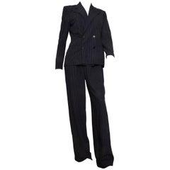 Ralph Lauren Collection Purple Label Pinstriped Pant Suit