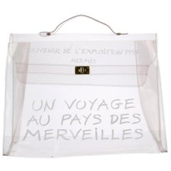 Hermès Kelly Souvenir 1997 Transparent See Through Clear 228909 Vinyl Satchel