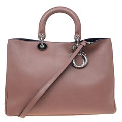 Dior Light Brown Leather Large Diorissimo Shopper Tote
