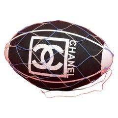 Chanel Black (Ultra Rare) Cc Sports Logo Football 232309