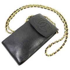 Chanel Chain (Ultra Rare) Cc Logo Caviar Mobile Phone Case Wallet On Chain228732