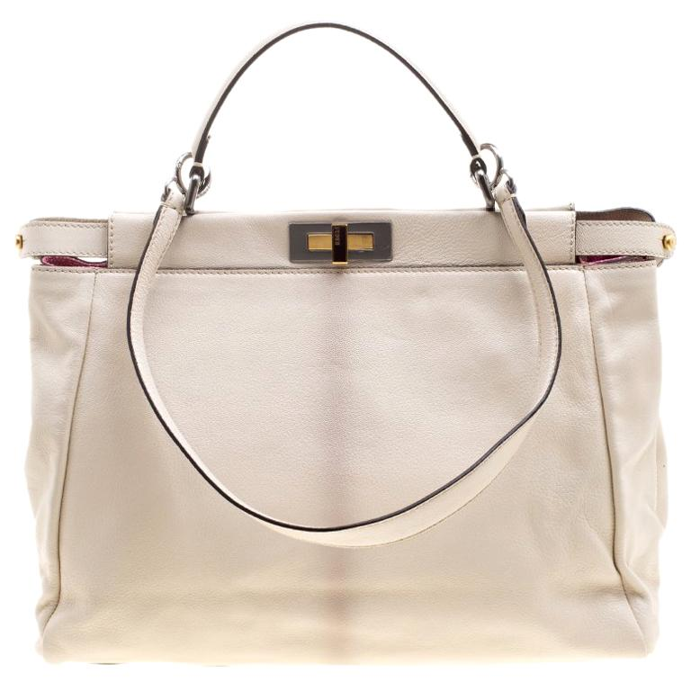 163c191961 Fendi Beige Leather with Sting Ray Lining Large Peekaboo Bag For Sale at  1stdibs