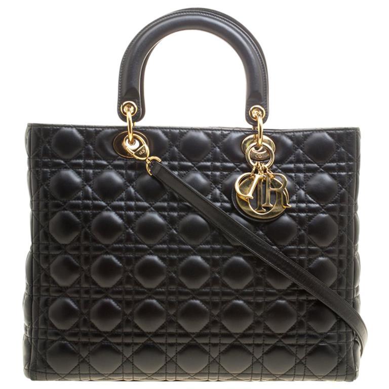 67b613315d01a Dior Schwarzes Leder