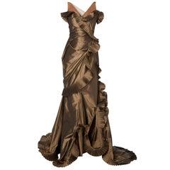 Dior brown dress, circa 2003