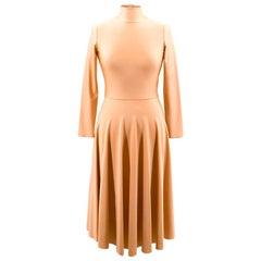 Balenciaga Pleated Midi Spandex Dress US 0-2