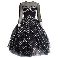 Isabelle ALLARD Paris Couture Plumetis Polka dots Cotton Dress - Unworn, New