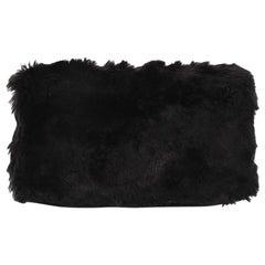 Prada Clutch Faux Fur Oversized
