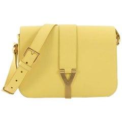 Saint Laurent Chyc Flap Shoulder Bag Leather Medium