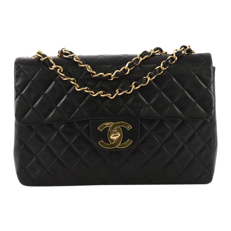 8ba9c85e7134 Chanel Vintage Classic Single Flap Bag Quilted Lambskin Maxi at 1stdibs