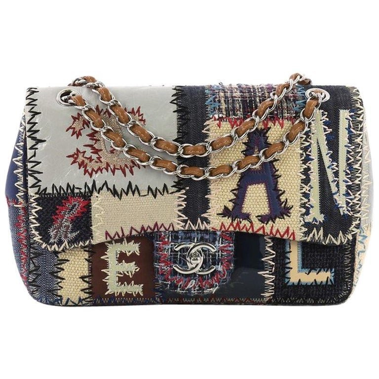 a2e21a079bc5 Chanel Flap Bag Multicolor Patchwork Jumbo For Sale at 1stdibs