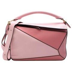 Loewe Soft Pink & Dark Pink Medium Puzzle Bag