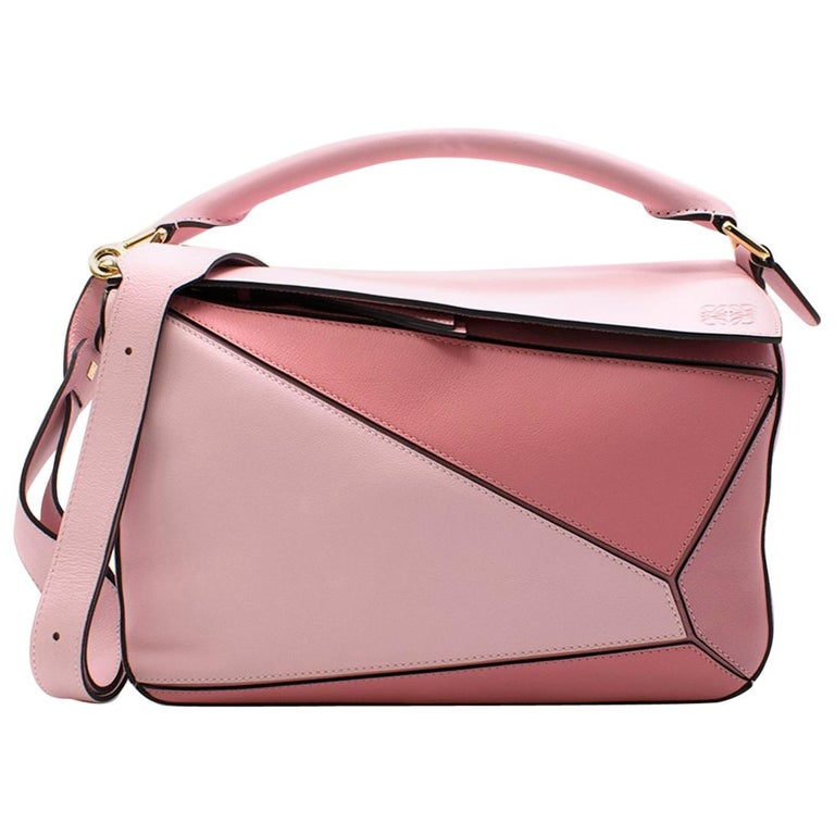 Loewe Soft Pink and Dark Pink Medium Puzzle Bag For Sale at 1stdibs 1f56e70fd2966