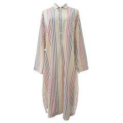 Issey Miyake Colour Stripe Kaftan Shirt 1980s