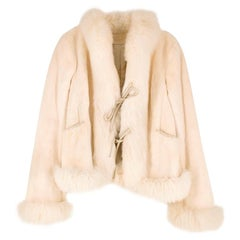 Valentino Cream Fox & Mink Fur Jacket US 2-4