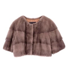 Lilly E Violetta Sarah Mini Mink Fur Jacket US 6