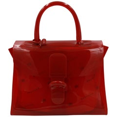 Delavux Le Brillant Red Plexi Chaperon Rouge Bag