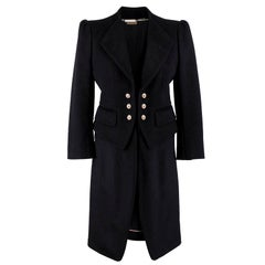 Alexander McQueen Botton Detail Coat US 4