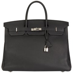 2010 Hermes Black Togo Leather Birkin 40cm