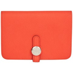 2017 Hermes Capucine Evercolor Leather Dogon Compact Wallet