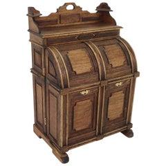 Vintage Artist Made Miniature Victorian Wooton Desk
