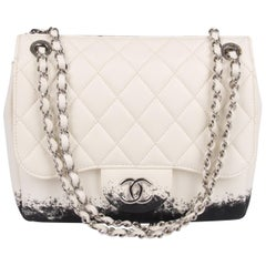 Chanel Classic Printed Lambskin Bag - black & white - NEW