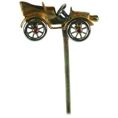 Victorian Mechanical Touring Car Stickpin