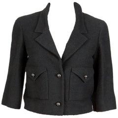 Never Worn Chanel Black Tweed Boucle Box Jacket