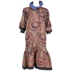 Kenzo Wool Paisley Dress by Kenzo Tagada