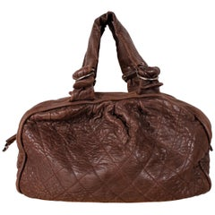 Chanel Shopper Aged Leather Dark Brown